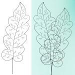 Plantensteun eikenblad - 160 cm