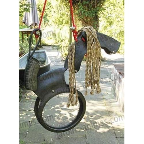 schommelpaard in gerecycleerd rubber