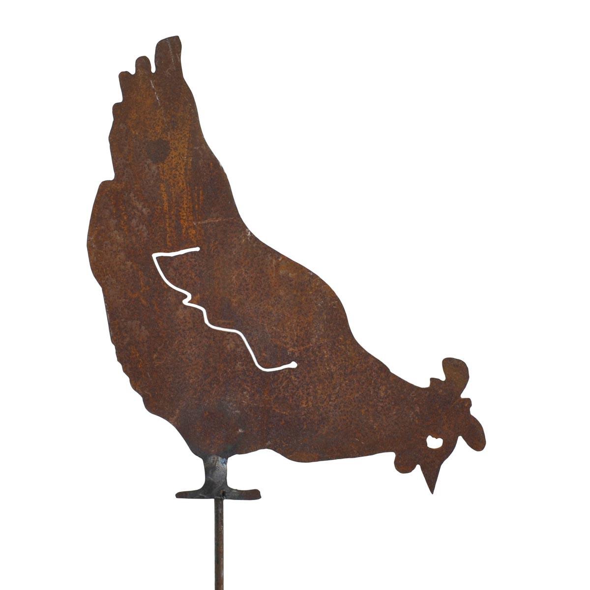Silhouet kip in metaal for Decoration de jardin animaux metal