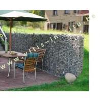 Steenkorf als muurwand 180cm