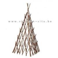 tipi plantensteun in acacia 80 cm - set van 2