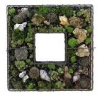 vierkant in metalen vlechtwerk - 40x40 cm