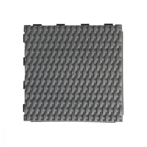 Vierkanten tegel 28 x 28cm - gevlochten leisteenkleur