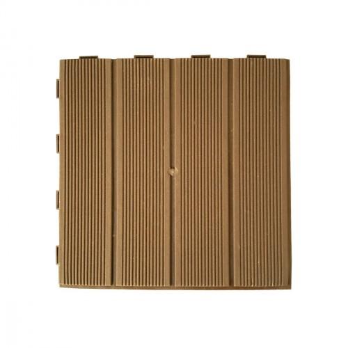 Vierkanten tegel 28 x 28cm - lichte kastanjekleur