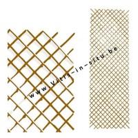 vlechtwerk acaciahout - 60 x 180 cm