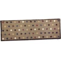 vloermatje gespikkeld beige achtergrond - 65x150 cm