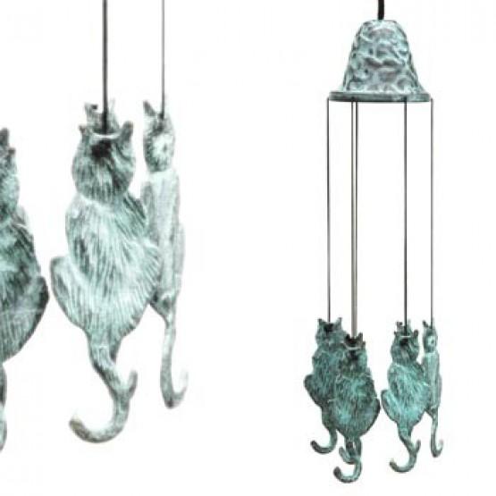 Windgong brons kat