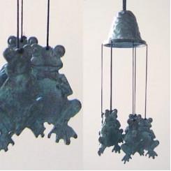 Windgong brons kikker