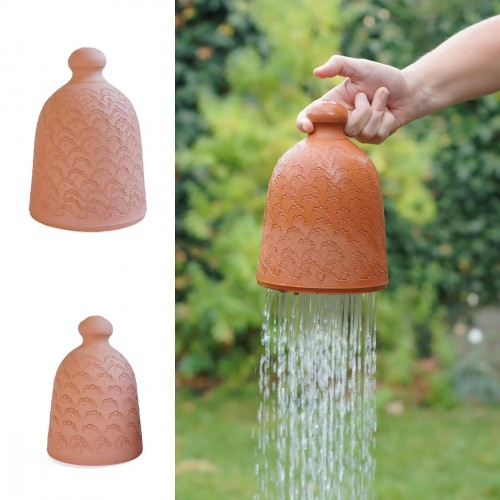 regenklok/gieter in aardewerk voor volwassenen
