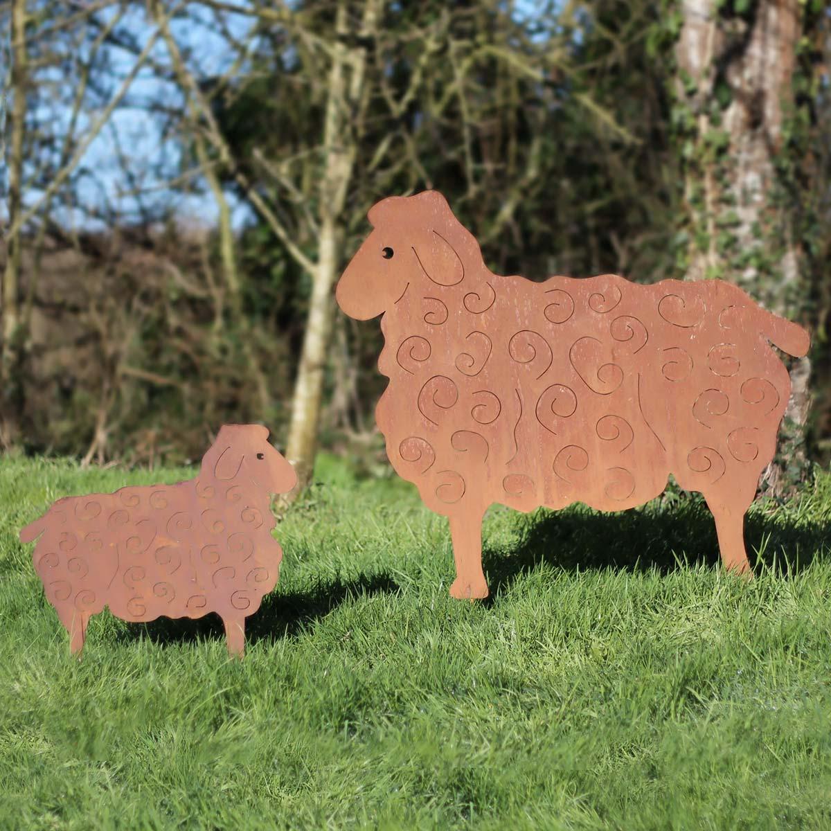 Silhouet schaap groot model in metaal - Deco jardin mouton toulon ...