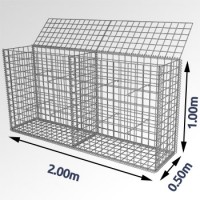 Steenkorf 200cm en 100 cm (hoog)