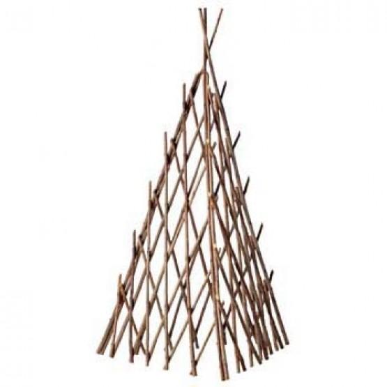 pyramide van gevlochten acaciatakken - 80 cm