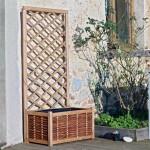 planten- en tuinbak in dennenhout met rechthoekig frame