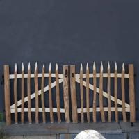 Tuinpoortje in notelaar - dubbele poort
