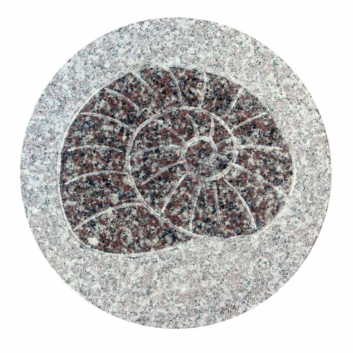 Japanse tuintegel in graniet slakmotief - Japanse tuindecoratie ...