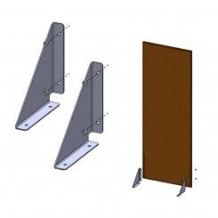 Vastzettingsmateriaal voor metalen wandpaneel - ijzer in 3hoek