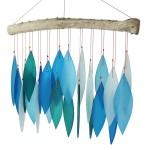 windgong met glasplaatjes - blauw