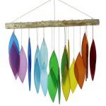 windgong met glasplaatjes - regenboog